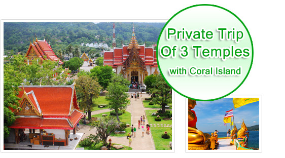Private Trip of 3 Temples with Coral Island