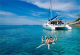Maithon Island and Coral Island by Sailing Catamaran