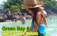 Green Bay & White Sandy Beach