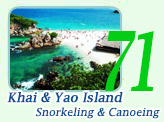 Khai and Yaow Island Snorkeling and Canoeing