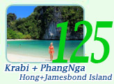 Krabi Hong Island and PhangNga Jamesbond Island