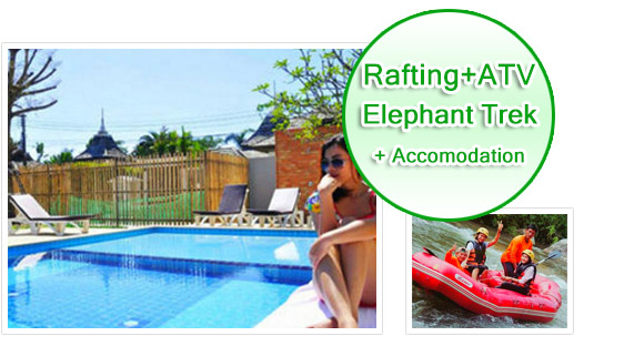 Rafting ATV Elephant Trek with Accommodation