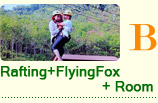 Rafting Flying Fox + Room